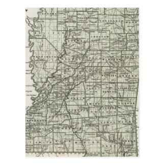 Mississippi Atlas Map Postcard
