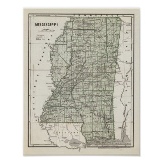 Mississippi Atlas Map Poster