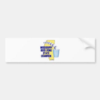 Mississippi Beer Pong Bumper Sticker