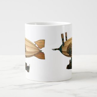 Mississippi Belle Steampunk Airship Coffee Mug
