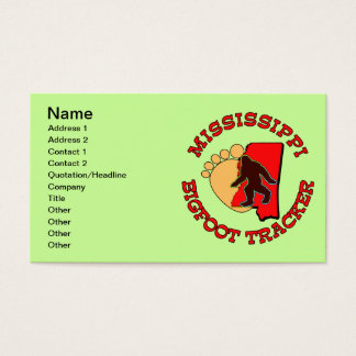 Mississippi Bigfoot Tracker Business Card