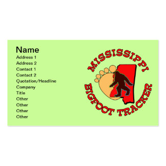 Mississippi Bigfoot Tracker Double-Sided Standard Business Cards (Pack Of 100)