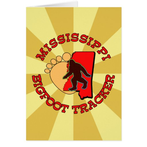 Mississippi Bigfoot Tracker Greeting Card