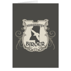 Greeting Card with Mississippi Birder design