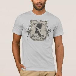 Men's Basic American Apparel T-Shirt with Mississippi Birder design