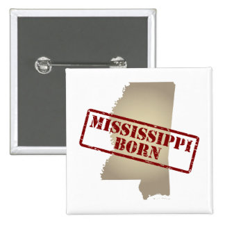 Mississippi Born - Stamp on Map Buttons