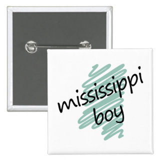 Mississippi Boy on Child's Mississippi Map Pinback Button