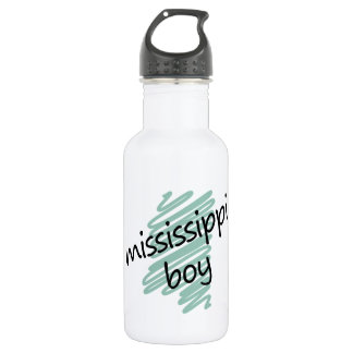Mississippi Boy on Child's Mississippi Map Stainless Steel Water Bottle
