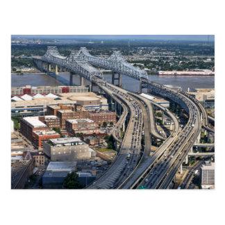 Mississippi Bridge Aerial Postcard