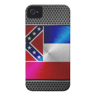 Mississippi brushed metal flag iPhone 4 case