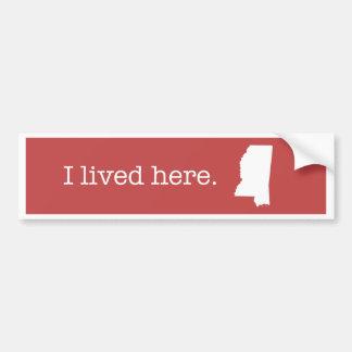 Mississippi Bumper Sticker Bumper Sticker