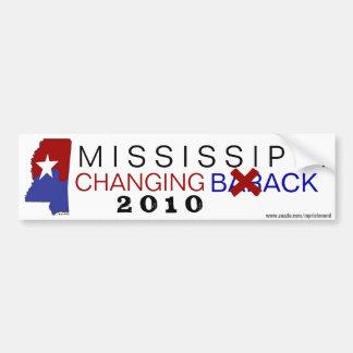 Mississippi Changing Back 2010 Bumper Sticker