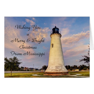 Mississippi Christmas Card Lighthouse