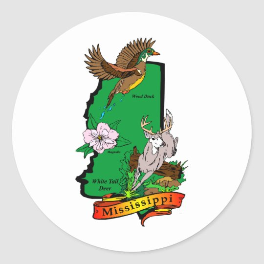 Mississippi Classic Round Sticker