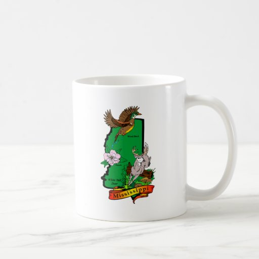 Mississippi Classic White Coffee Mug