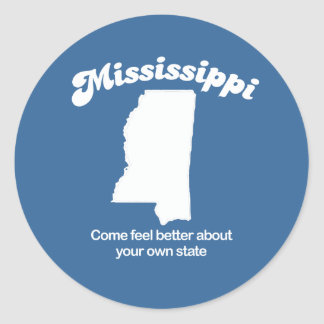 Mississippi - Come feel better T-shirt Classic Round Sticker