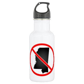 Mississippi Cross Out Symbol 18oz Water Bottle