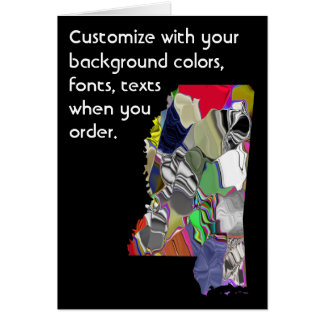 Mississippi Customize colorful card how you like