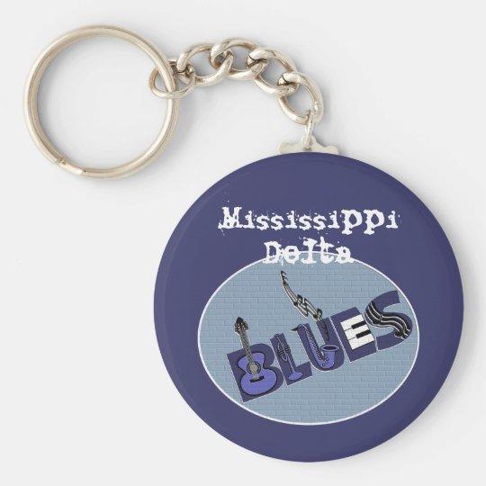 Mississippi Delta Blues Keychain