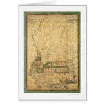 Mississippi Early Map by Melish 1820 Card