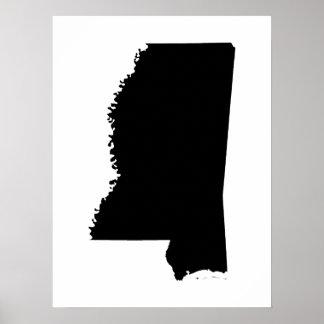 Mississippi en blanco y negro posters