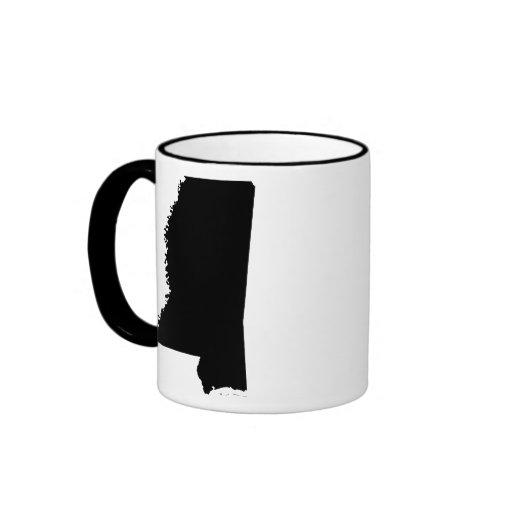 Mississippi en blanco y negro tazas