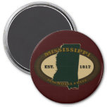 Mississippi Est. 1817 Imán Redondo 7 Cm
