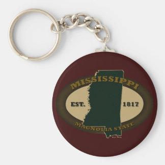 Mississippi Est. 1817 Llavero Redondo Tipo Pin