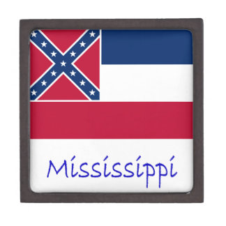 Mississippi Flag And Name Keepsake Box