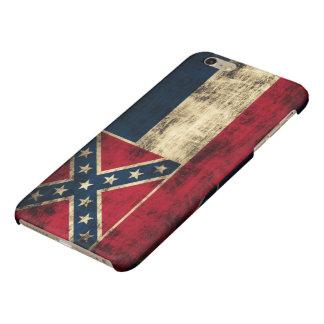 Mississippi Flag Grunge Glossy iPhone 6 Plus Case