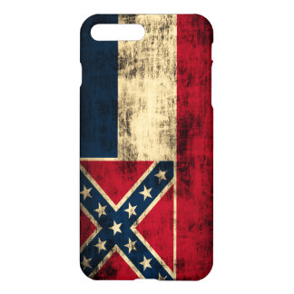 Mississippi Flag Grunge iPhone 7 Plus Case