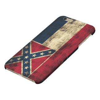 Mississippi Flag Grunge Matte iPhone 6 Plus Case