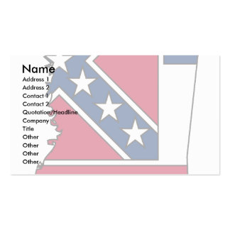 Mississippi Flag Map Double-Sided Standard Business Cards (Pack Of 100)