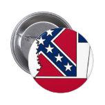 Mississippi Flag Map Button