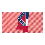Mississippi Flag Map Photo Card