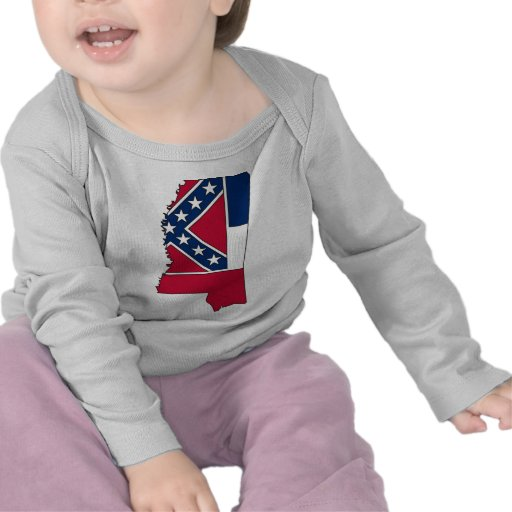 Mississippi Flag Map T-shirts
