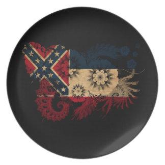 Mississippi Flag Plates