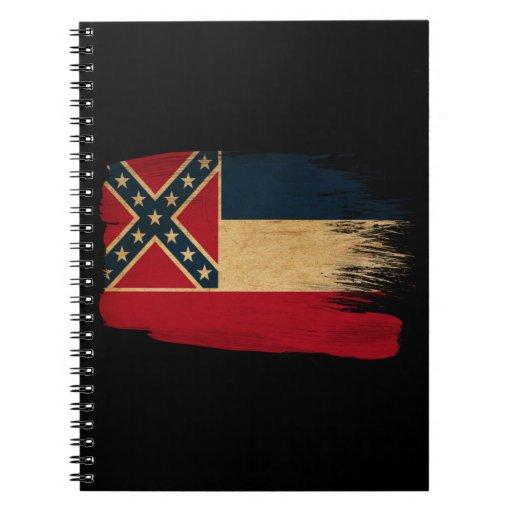 Mississippi Flag Spiral Notebook
