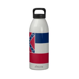 Mississippi flag reusable water bottles