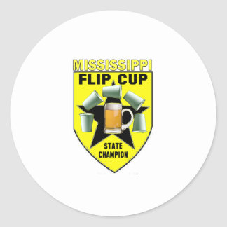 Mississippi Flip Cup State Champion Classic Round Sticker