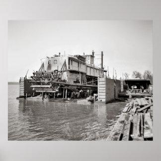 Mississippi Floating Dock Poster