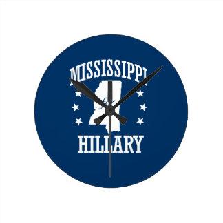 MISSISSIPPI FOR HILLARY ROUND WALLCLOCKS