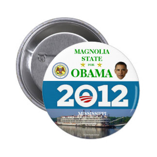 MISSISSIPPI for Obama 2012 political pinback butto Buttons