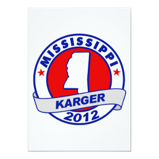 Mississippi Fred Karger 5x7 Paper Invitation Card