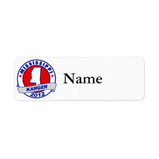 Mississippi Fred Karger Label