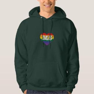 Mississippi Gay Pride Rainbow Heart - Big Love Hoodie
