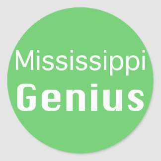 Mississippi Genius Gifts Classic Round Sticker
