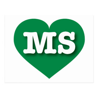 Mississippi Green Heart - Big Love Postcard