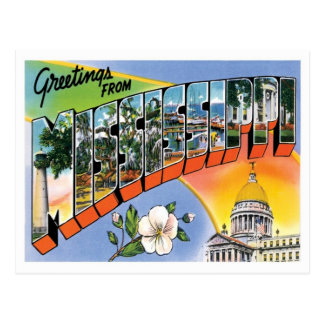 Mississippi Greetings From US States Postcard