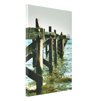 Mississippi Gulf Coast Fishing Pier Wall Canvas